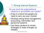 7 strong internal systems