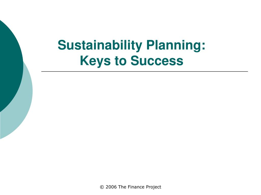 sustainability planning keys to success l.