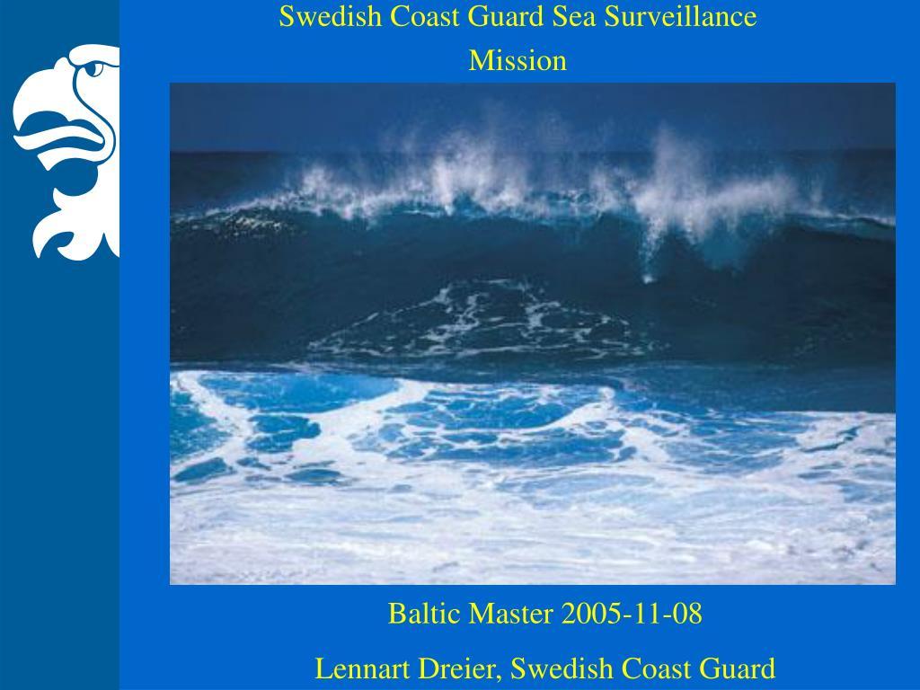 swedish coast guard sea surveillance mission l.