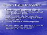 recovery mutual aid societies