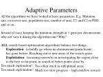 adaptive parameters