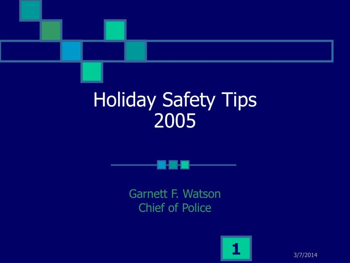 holiday safety tips 2005 n.