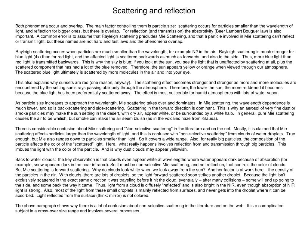 scattering and reflection l.