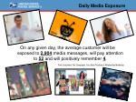 daily media exposure