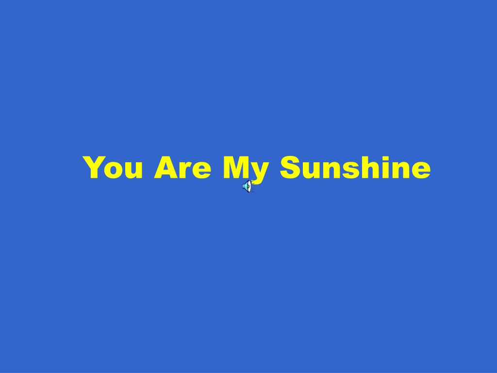 you are my sunshine l.
