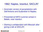 1962 naples istanbul saclay