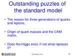outstanding puzzles of the standard model