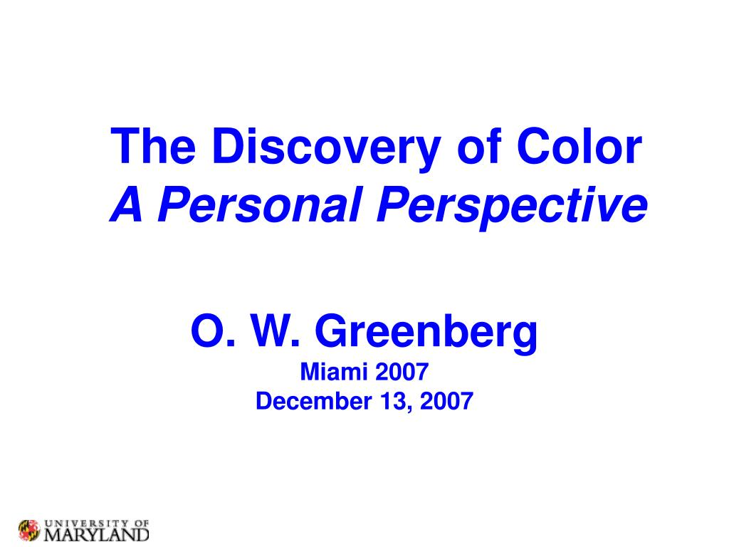 the discovery of color a personal perspective l.