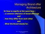 managing brand offer architecture