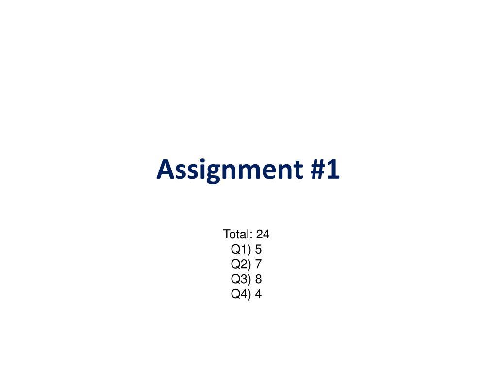 assignment 1 l.
