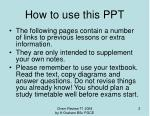 how to use this ppt