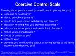 coercive control scale
