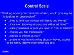 control scale