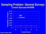 sampling problem general surveys current spouses nvaws