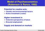 model of psychoeconomics rubenson runco 199220