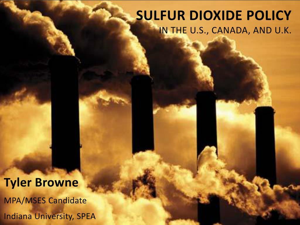 sulfur dioxide policy in the u s canada and u k l.