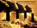 sulfur dioxide policy in the u s canada and u k