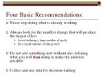 four basic recommendations
