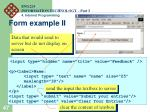 form example ii