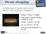 a 500g bag of pasta costs 3 65 what is the price per kilogram