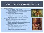 decline of gunpowder empires