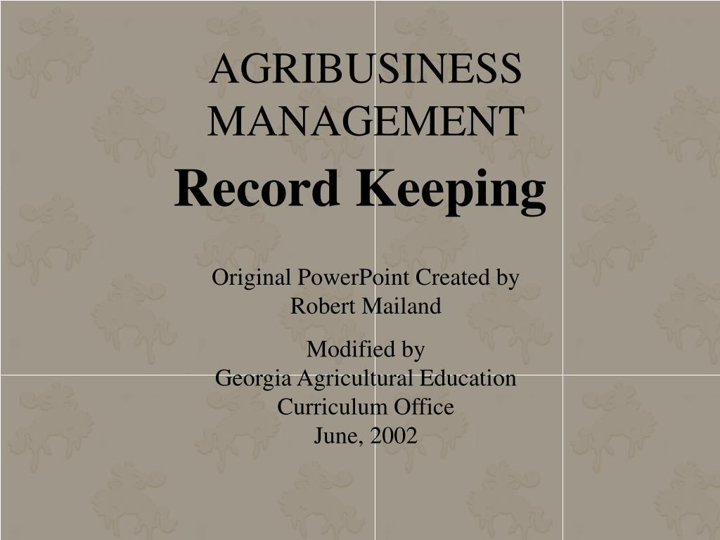 agribusiness management l.