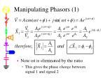manipulating phasors 1
