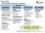 summa s integrated delivery system
