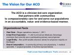 the vision for our aco