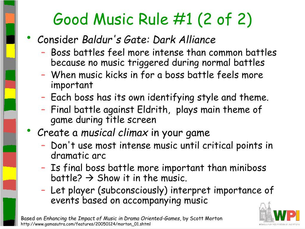 Good Music Rule #1 (2 of 2)