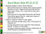 good music rule 1 2 of 2
