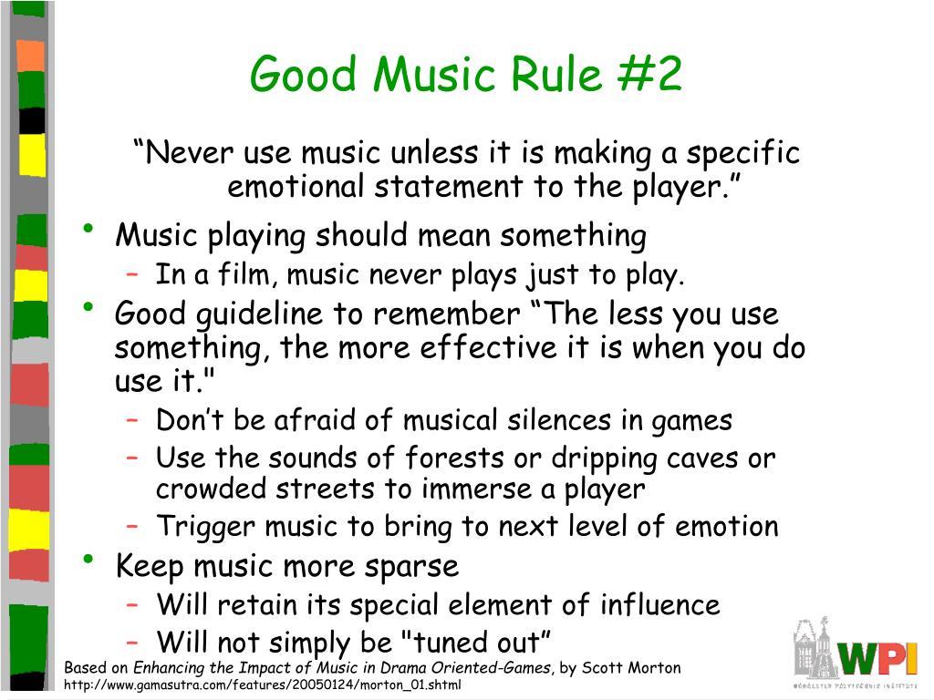 Good Music Rule #2