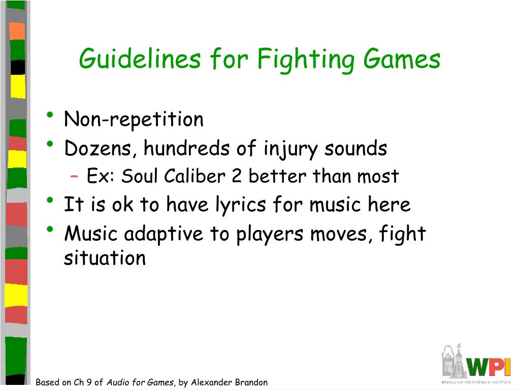 Guidelines for Fighting Games