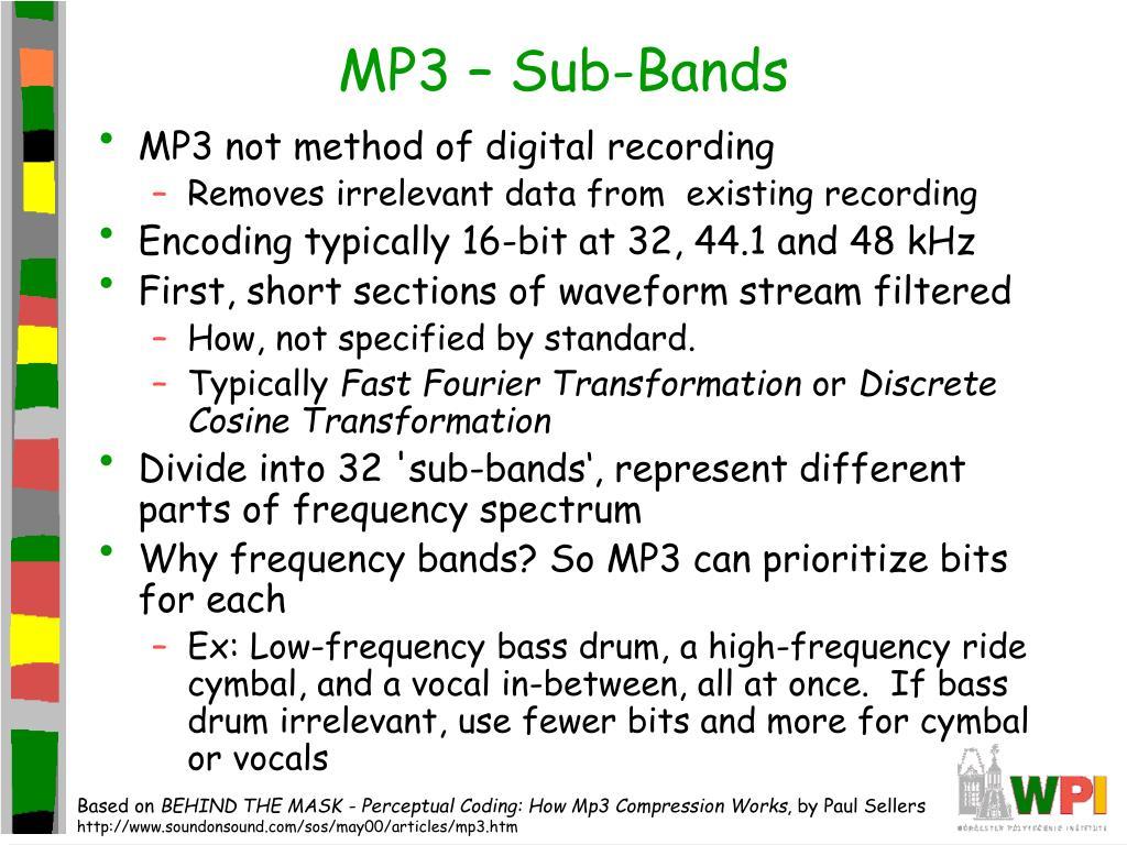 MP3 – Sub-Bands