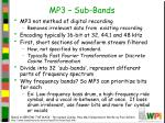 mp3 sub bands