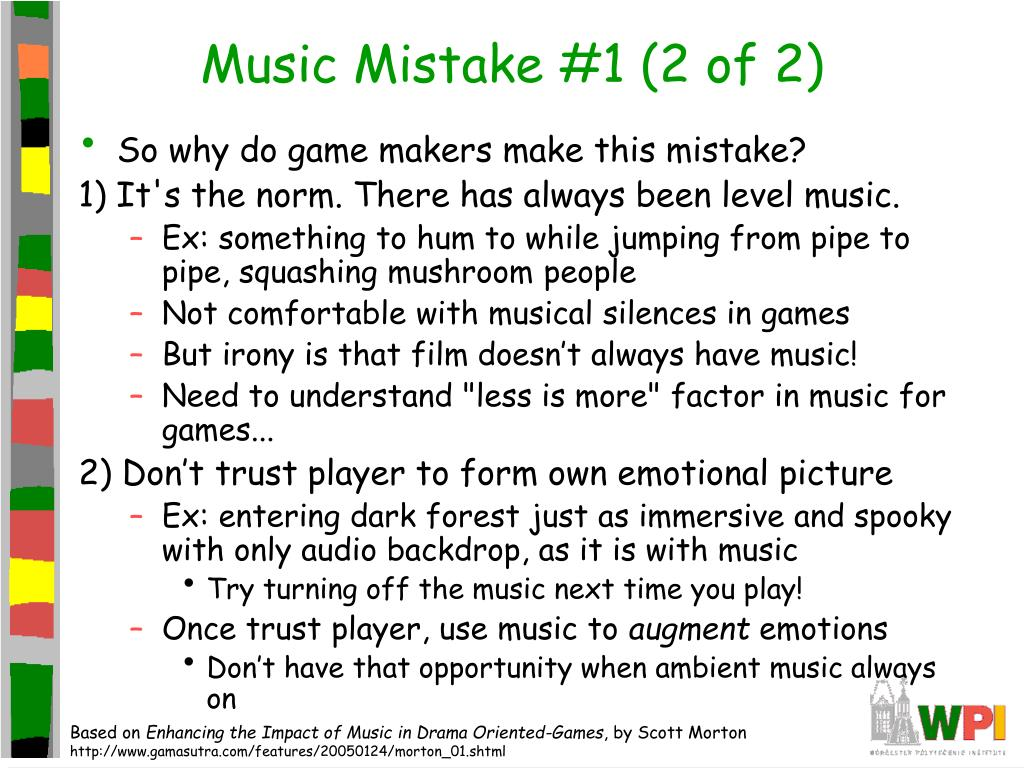 Music Mistake #1 (2 of 2)