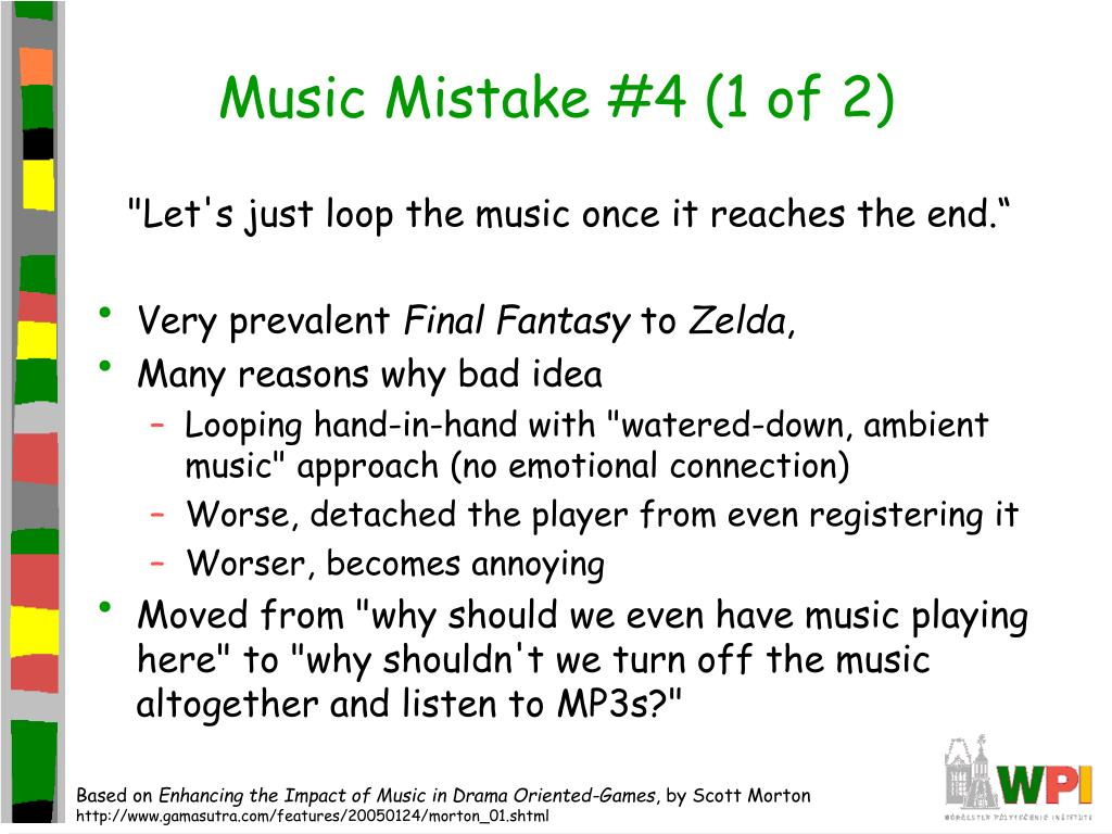 Music Mistake #4 (1 of 2)