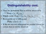 distinguishability cont