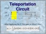 teleportation circuit52