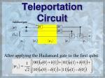teleportation circuit53
