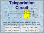 teleportation circuit54