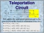 teleportation circuit55