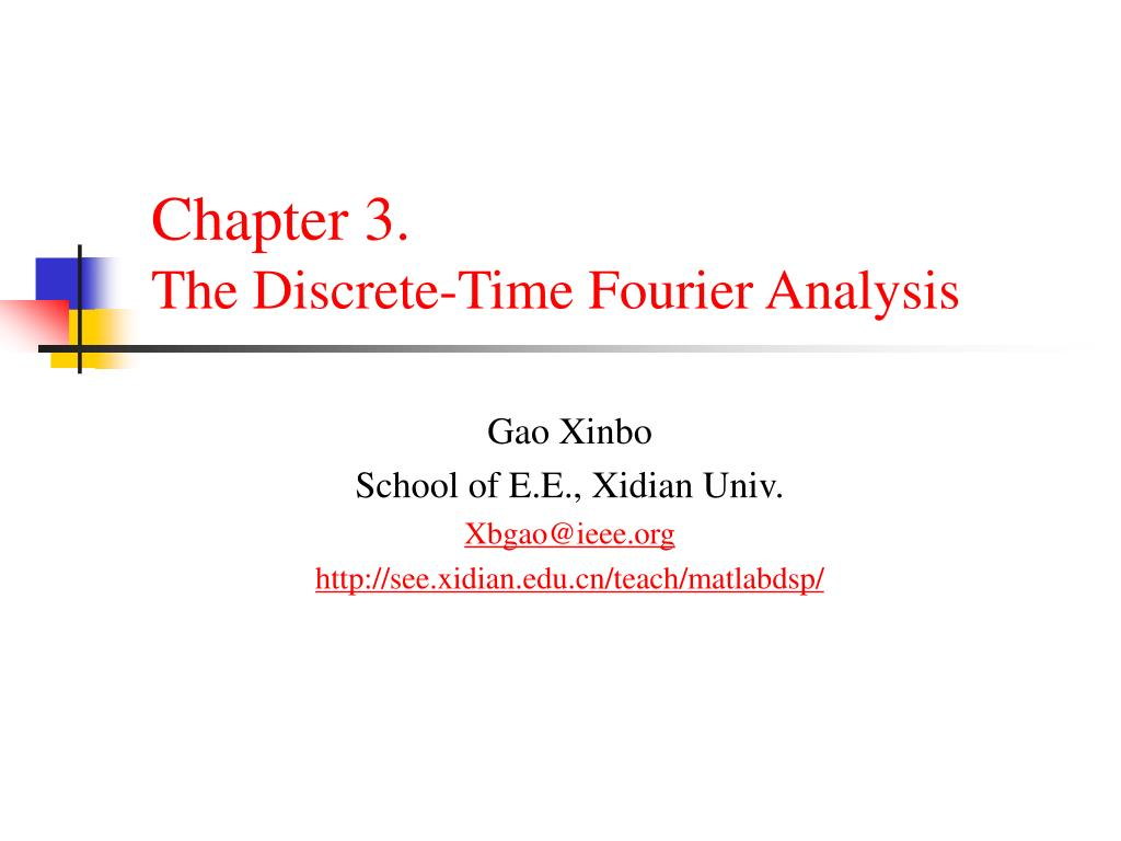 chapter 3 the discrete time fourier analysis l.