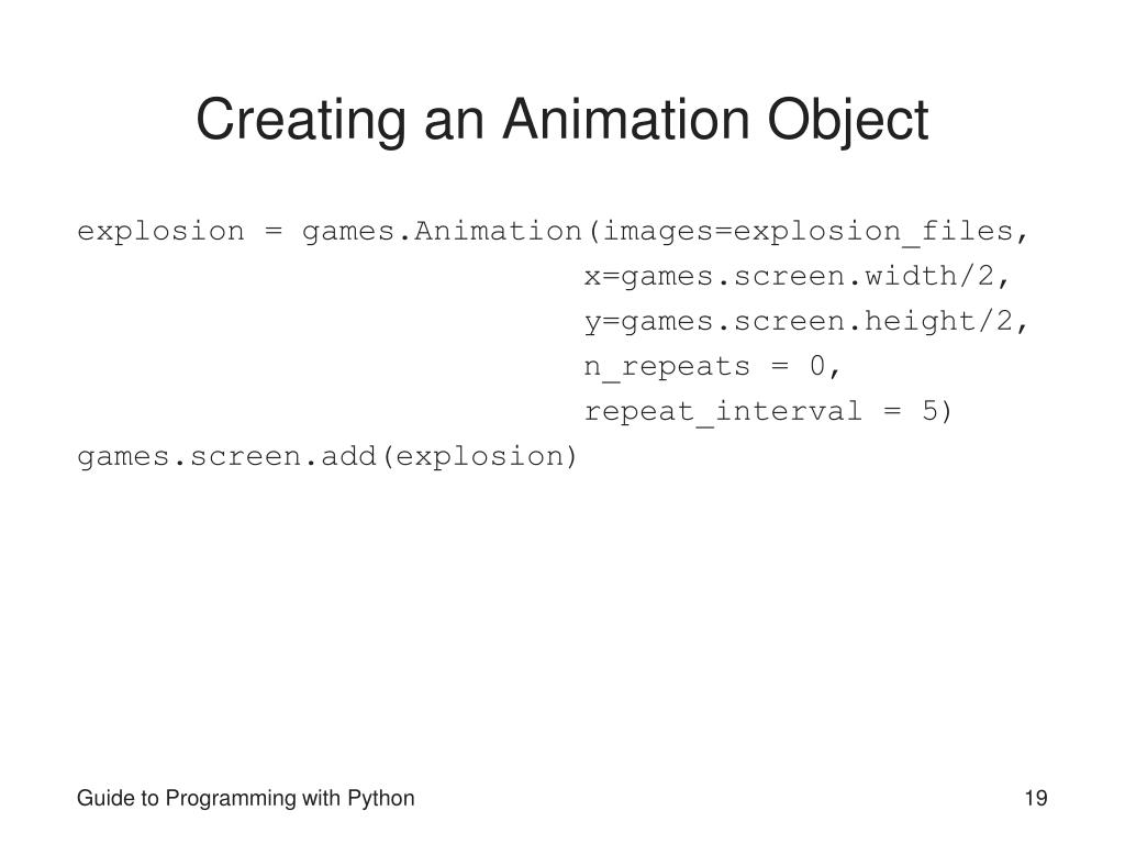 Creating an Animation Object