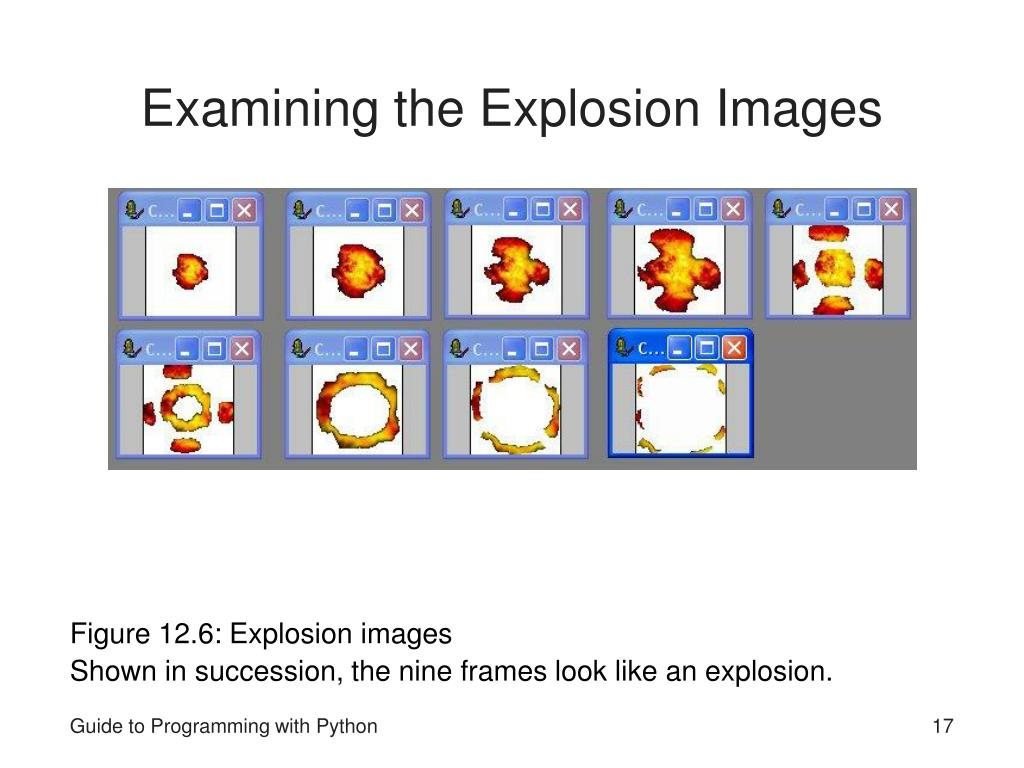 Examining the Explosion Images