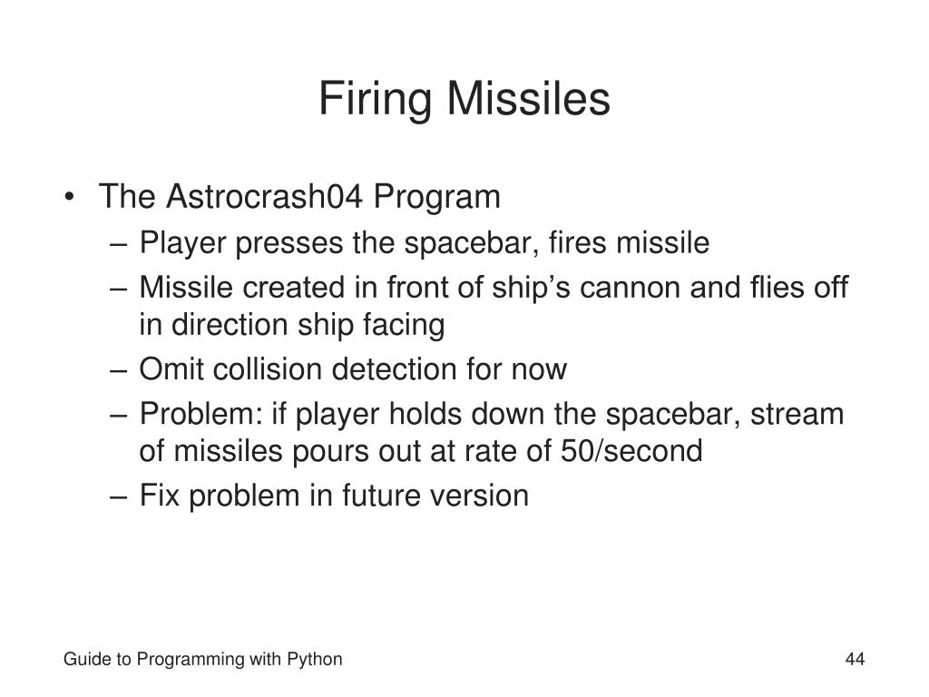 Firing Missiles