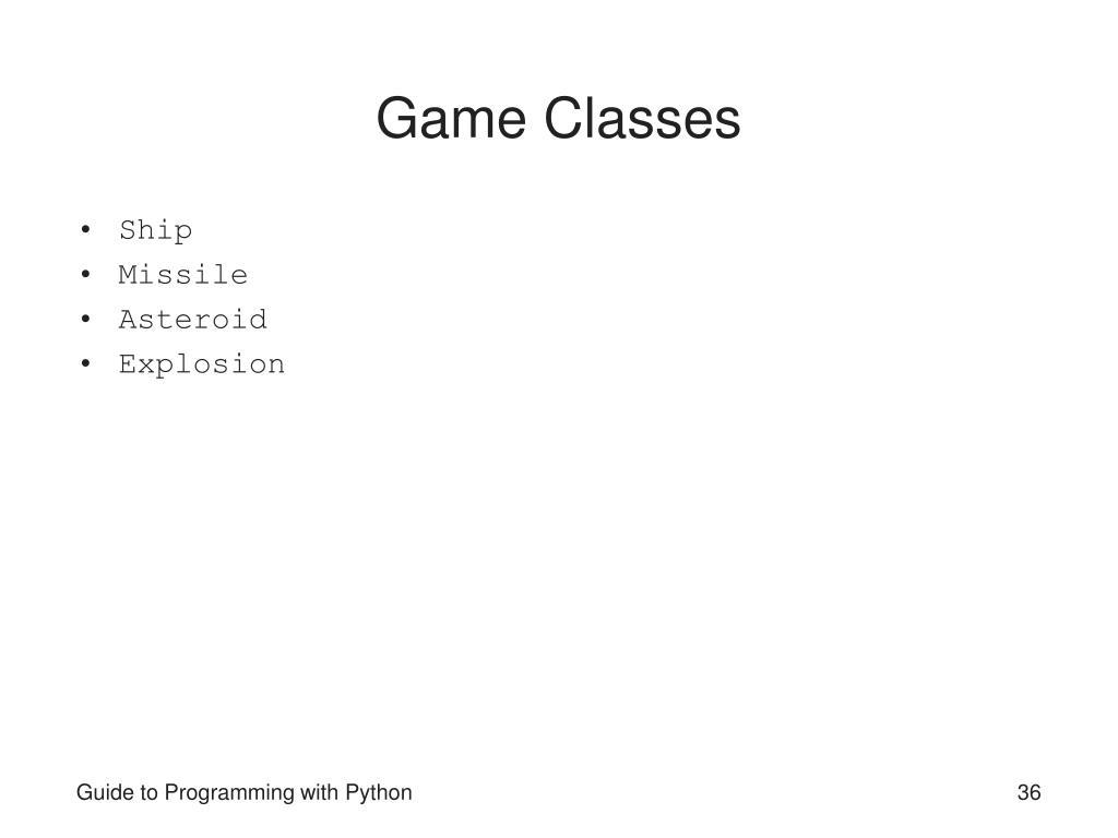 Game Classes