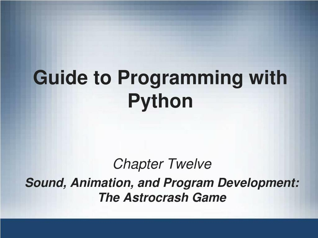guide to programming with python l.