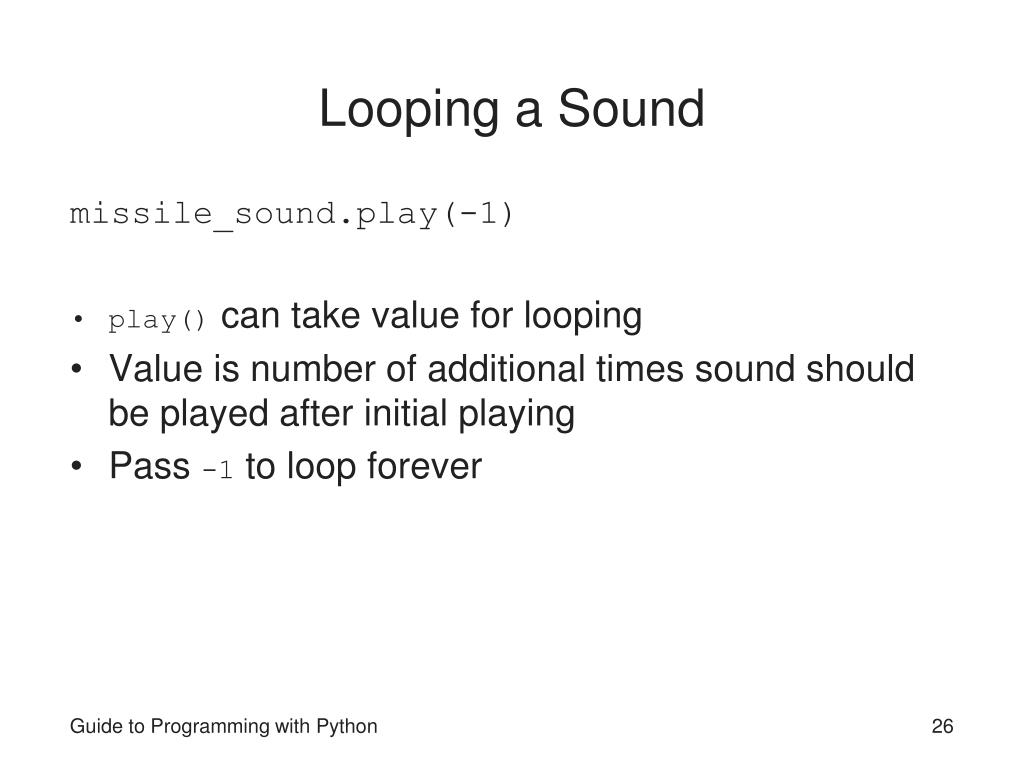 Looping a Sound