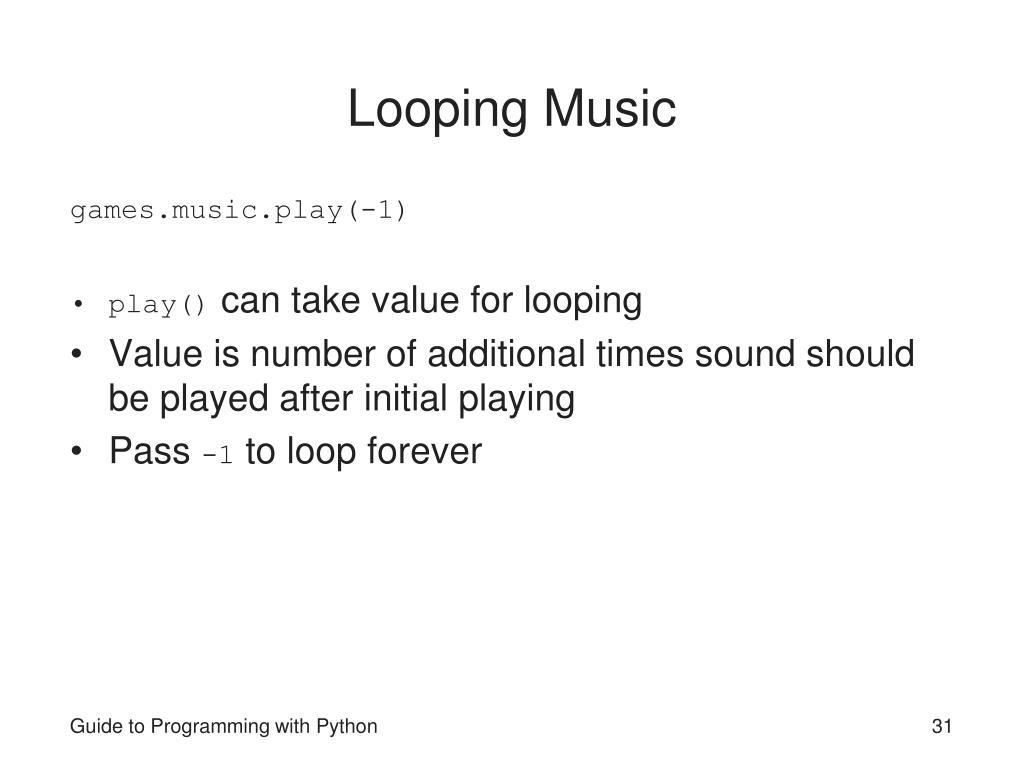 Looping Music